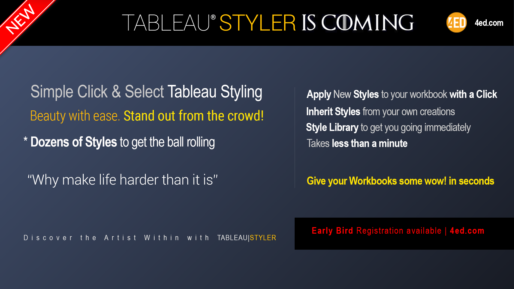 Tableau Styler | Style Managment and Style Injection | 4ED